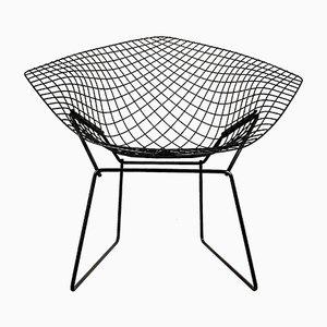 Sedia Diamond nera di Harry Bertoia per Knoll Inc. / Knoll International, anni '60