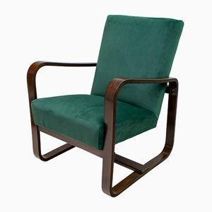 Geschwungene Holz Sessel von Giuseppe Pagano & Gino Maggioni, Italien, 1940er, 2er Set