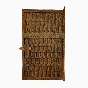 Carved Millet Attic Door from Dogon Tribe of Mali, 1970s