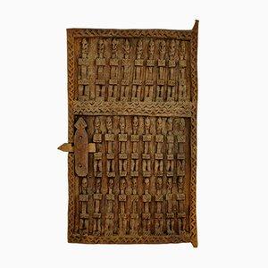 Haustür aus geschnitzter Hirse von Dogon Tribe of Mali, 1970er