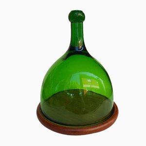 Grüne Glas Käseglocke von Hadeland Glassverk, 1960er