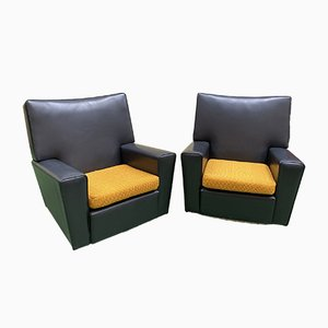 Leatherette Club Chairs, 1970s, Set of 2
