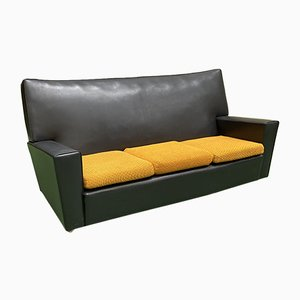 Leatherette Club Sofa, 1970s