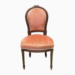 Vintage Louis XVI Nussholz Stuhl