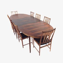 Rosewood Darby Dining Set by Torbjørn Afdal for Bruksbo