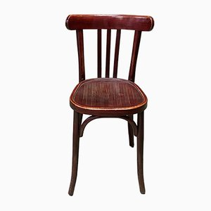 Turned Wood Bistro Chair, 1930s