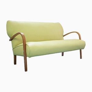 Grünes italienisches Vintage 2-Sitzer Sofa, 1950er