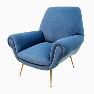 Mid-Century Modern Lounge Chair by Gigi Radice for Minotti, 1950s