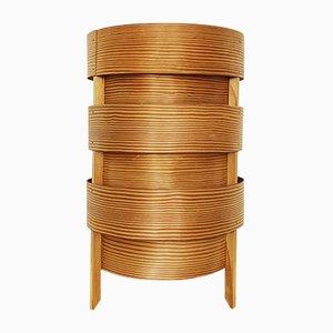 Lámpara de mesa sueca de madera, años 60
