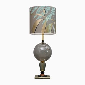 Mid-Century Blown Murano Glass Table Lamp, 1980s