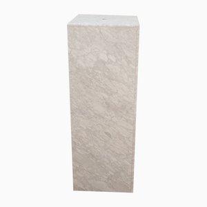 White Honed Marble Column, 1960s