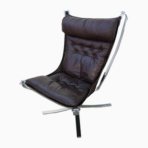 Steel High Back Falcon Chair by Sigurd Ressell for Vatne Lenestolfabrikk, 1980s