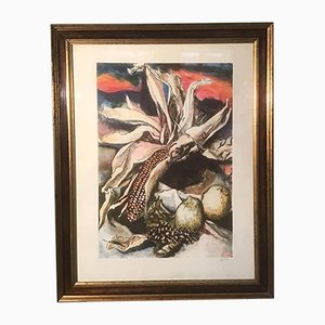 Cob and Lemons Etching and Aquatint by Renato Guttuso, Italy, 1984