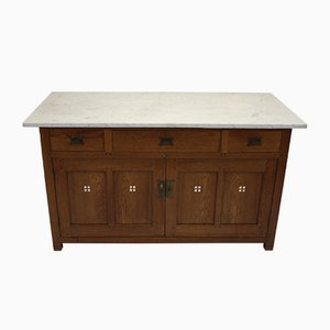 Art Deco Chest of Drawers with White Marble Top by Sint Maarten