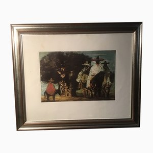 Italian Mexicans Etching and Aquatint by S. Fiume, 1980s