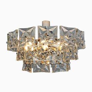 Mid-Century Deckenlampe aus Kristallglas mit 13 Leuchten von Kinkeldey