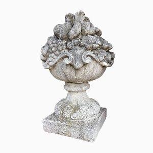 Gegossener Garten Korb Ornament Obstkorb, 1920er