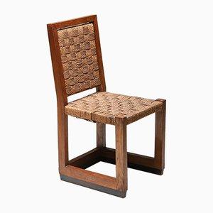 Vintage Haager Schule Stuhl mit Kord, 1920er