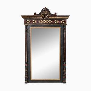 Specchio da camera antico Regency intagliato a mano, intagliato a mano