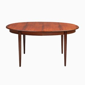 Mid-Century Danish Modern Extendable Rosewood Dining Table by Niels Møller, 1970s