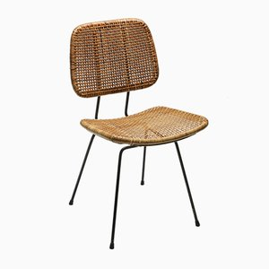 Mid-Century Bamboo & Rattan Dining Chairs, 1950s, Set of 2