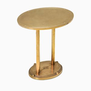 Vintage Brass Cast Side Table by Peter Ghyczy, 1980s