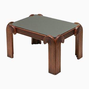 Tavolino Mid-Century in legno intagliato, Italia, anni '60