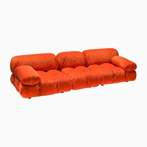 Vintage Camaleonda Sectional Sofa in Bright Orange by Mario Bellini for B&B Italia / C&B Italia, 1970s