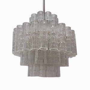Mid-Century Röhrenförmige Deckenlampe von Venini