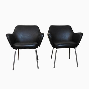 Mid-Century Leather Armchairs by Gio Ponti for Arflex, Set of 2