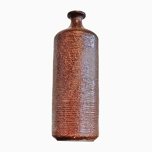 Cylindrical Studio Pottery Bottle Vase, 1970s