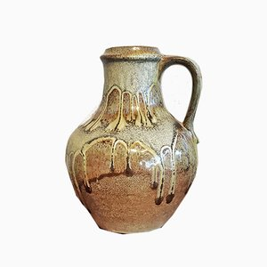 Vintage Krug Vase mit grüner Lava Glasur Nr. 7056/25 von Carstens Tönnieshof
