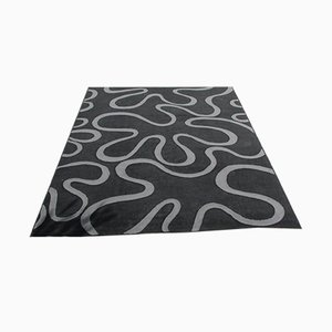 Black and Gray Rug, 1980s
