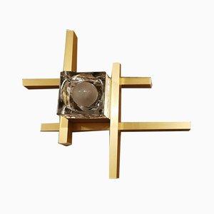 Apliques modelo Cubic italianos de Gaetano Sciolari, años 70. Juego de 2