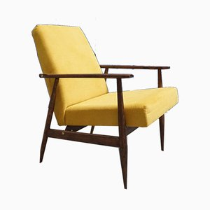 Mid-Century Yellow Tweed Armchair by Henryk Lis, 1967