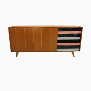Beech and Plywood Sideboard by Jiří Jiroutek for Interier Praha, 1958