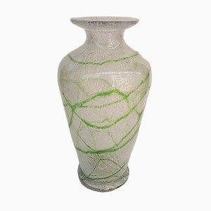 Vase Vintage en Verre Mousse avec Motif Vert par Johann Lötz Witwe pour Spiegelau