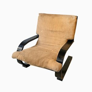 Curved Plywood Lounge Chair Attributed to Alvar Aalto, 1970s