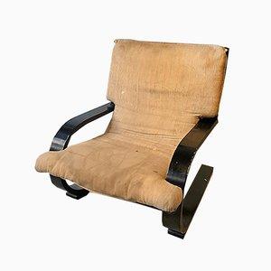 Gebogener Sperrholz Armlehnstuhl von Alvar Aalto, 1970er