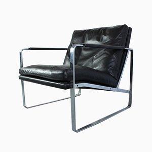 Leder Modell 710 Sessel von Preben Fabricius & Jørgen Kastholm für Walter Knoll / Wilhelm Knoll, 1980er