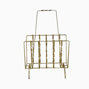 Vintage Gold Magazine Rack, 1950s