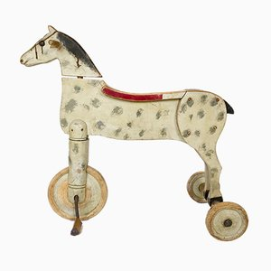 Antique Rolling Horse Toy, 1920s