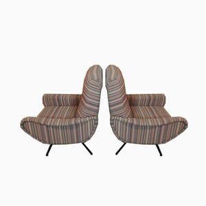 Mid-Century Lounge Chairs by Marco Zanuso for Arflex, Set of 2