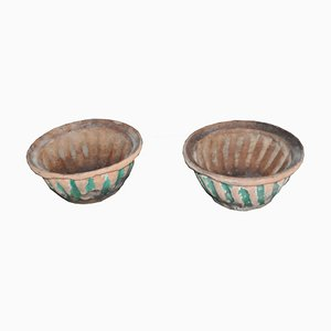 Mid-Century Pottery Baking Bowls, Set of 2