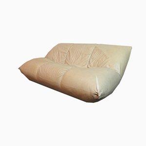 Elfenbeinfarbenes 2-Sitzer Sofa von GM Rosati für Giovannetti, 1970er