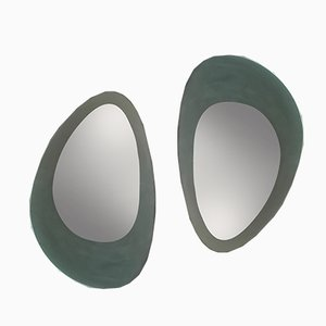 Italian Mirrors by Guglielmo Berchicci for Glas Italia, 1980s, Set of 2