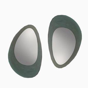 Italienische Spiegel von Guglielmo Berchicci für Glas Italia, 1980er, 2er Set