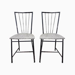 Dining Chairs by Colette Gueden Attributed to Atelier Primavera, 1940s, Set of 6