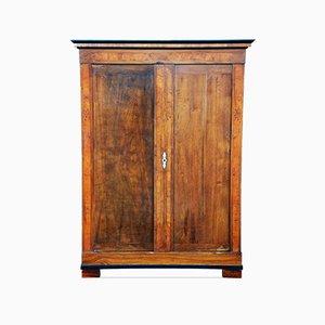 19th Century Biedermeier Walnut Wardrobe Cabinet, 1830s