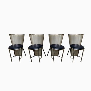 Chaises de Salon par Frans Van Praet pour Belgo Chrom / Dewulf Selection, 1992, Set de 4